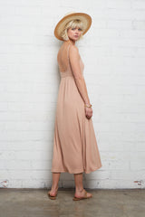 Rib Bellatrix Dress - Maple Sugar