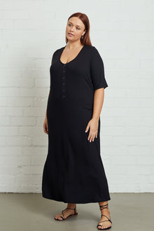 Rib Caro Dress - Plus Size