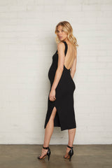 Rib Chandra Dress - Black, Maternity