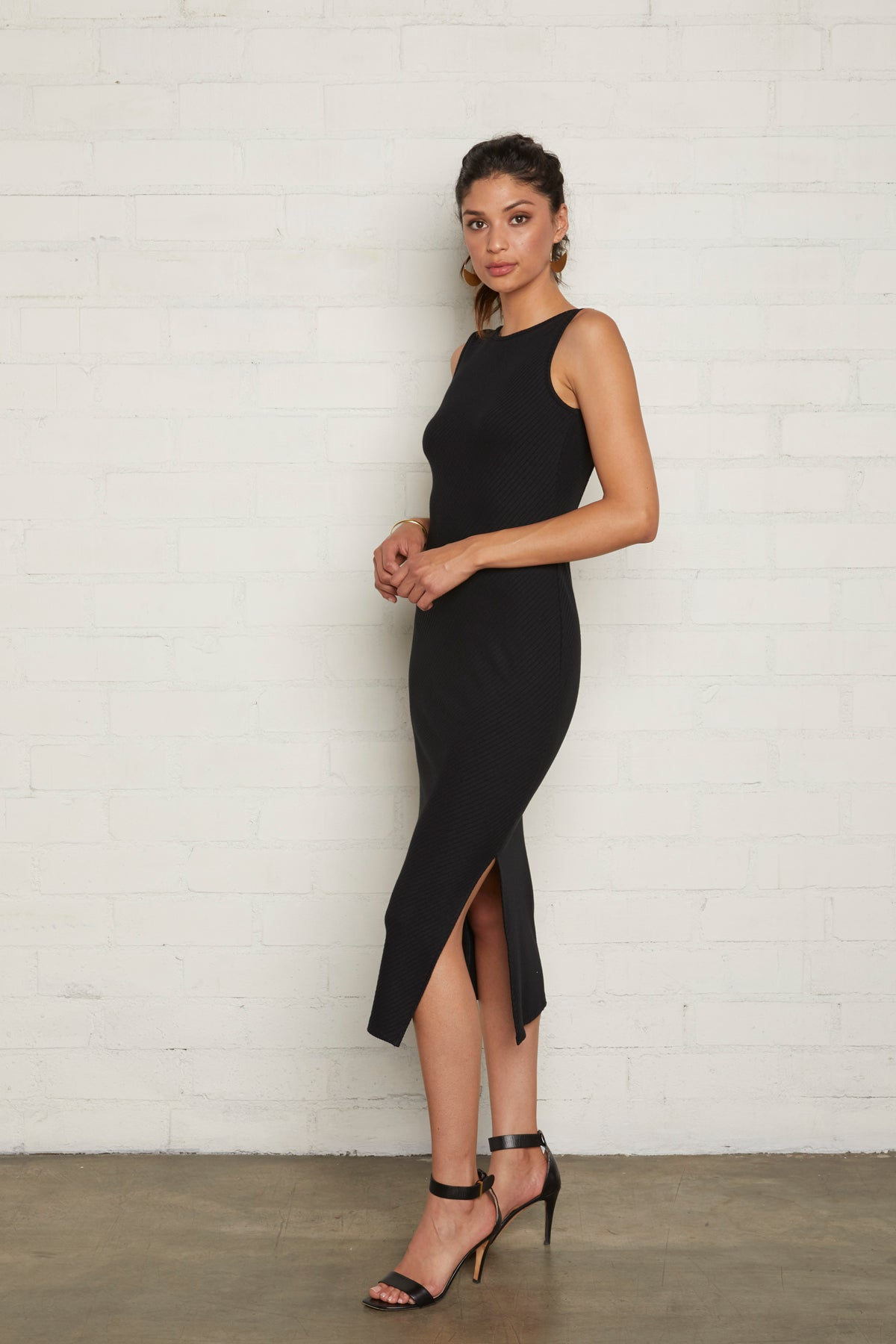 Rib Chandra Dress - Black