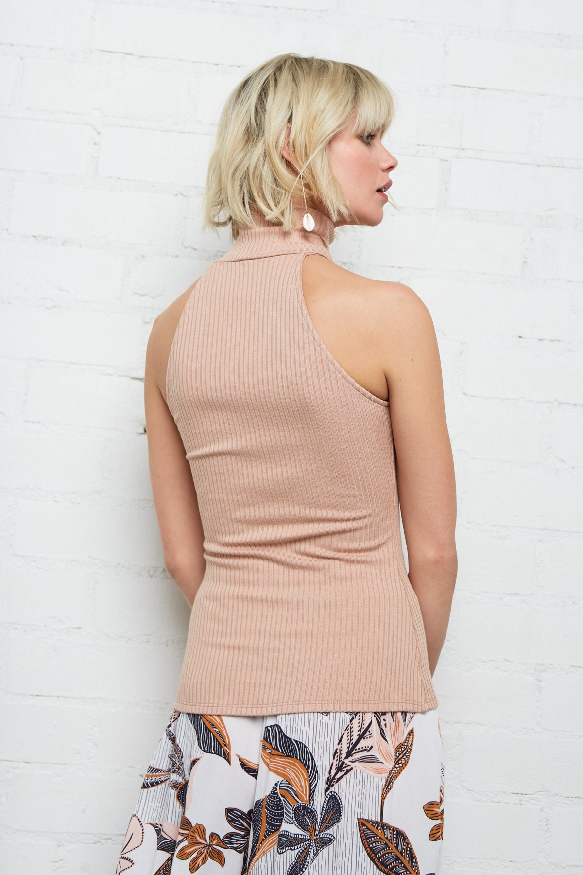 Rib Chloe Top - Maple Sugar