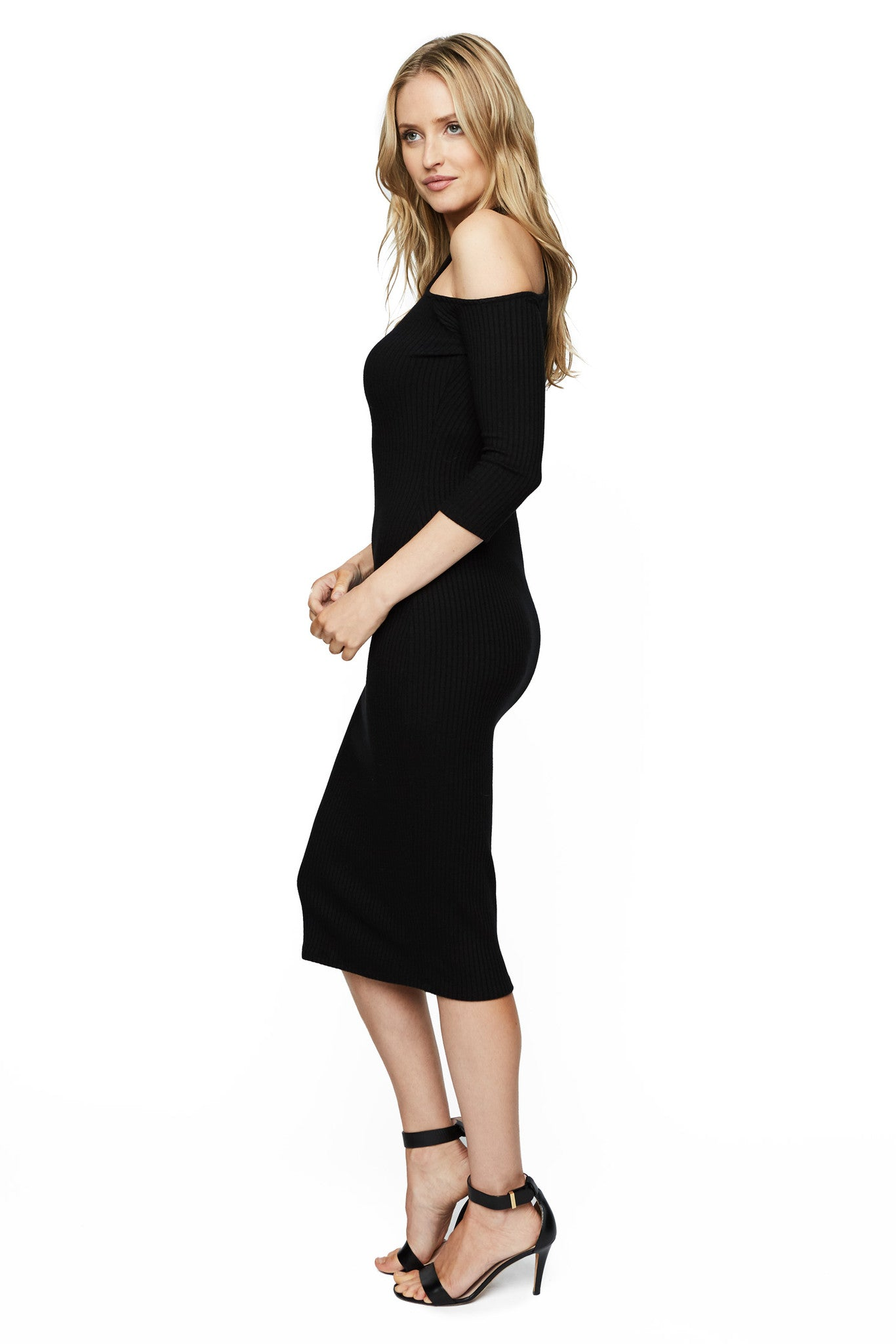 Rib Hana Dress - Black