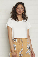 Rib Jaye Top - White