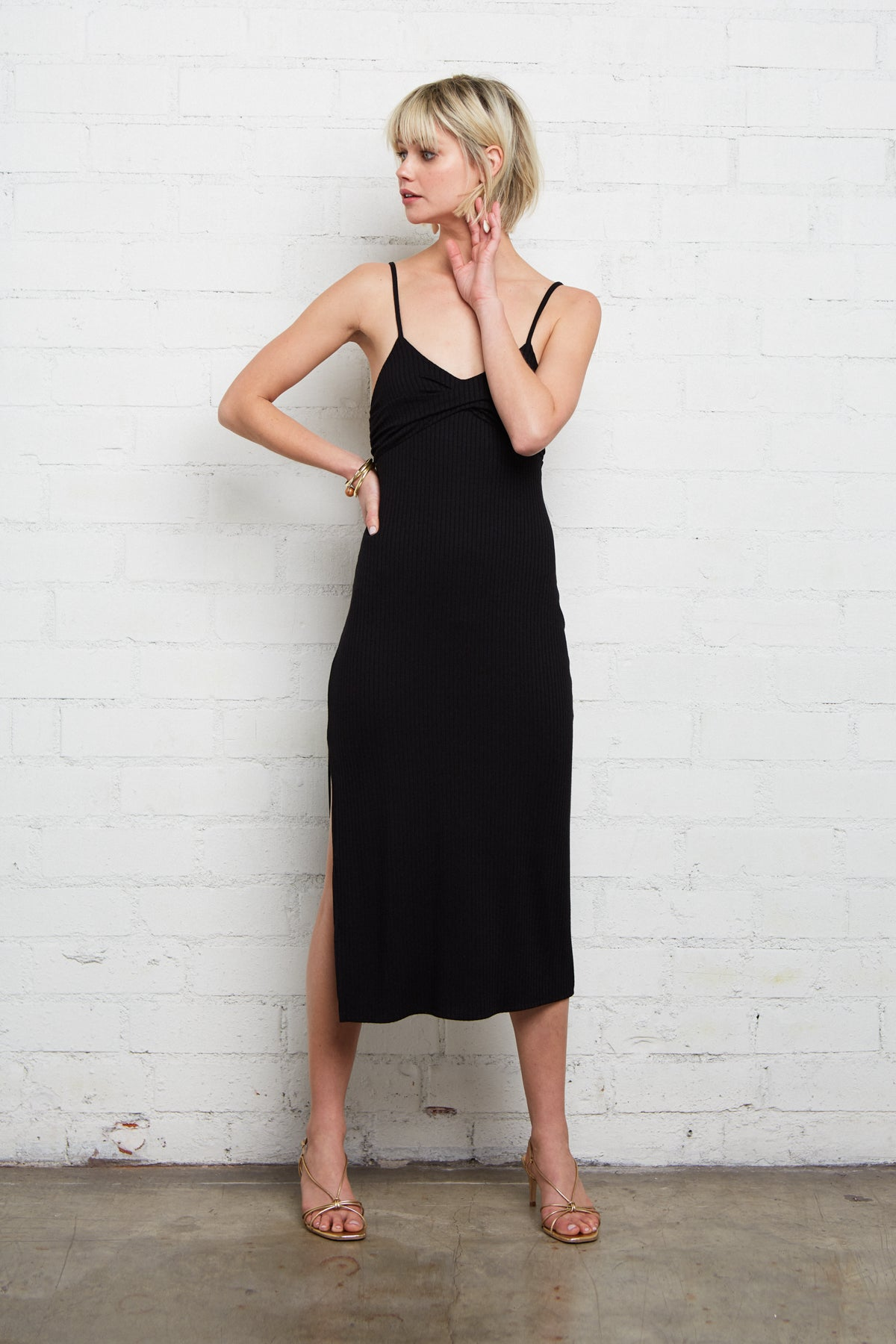 Rib Lettie Dress - Black