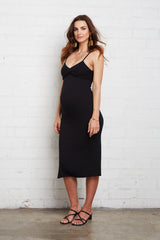 Rib Lettie Dress - Black, Maternity