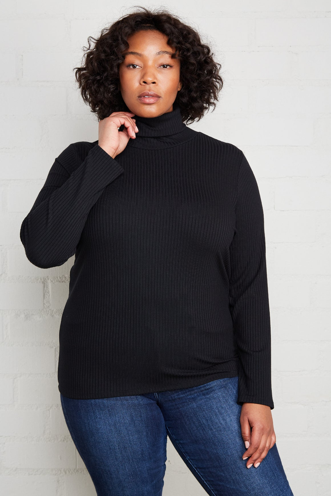 Rib Turtleneck - Plus Size