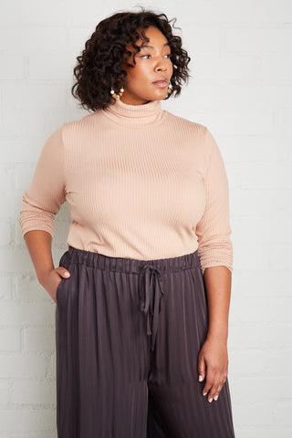 Rib Turtleneck - Maple Sugar, Plus Size