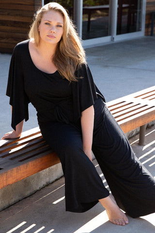 Roland Jumpsuit - Black, Plus Size