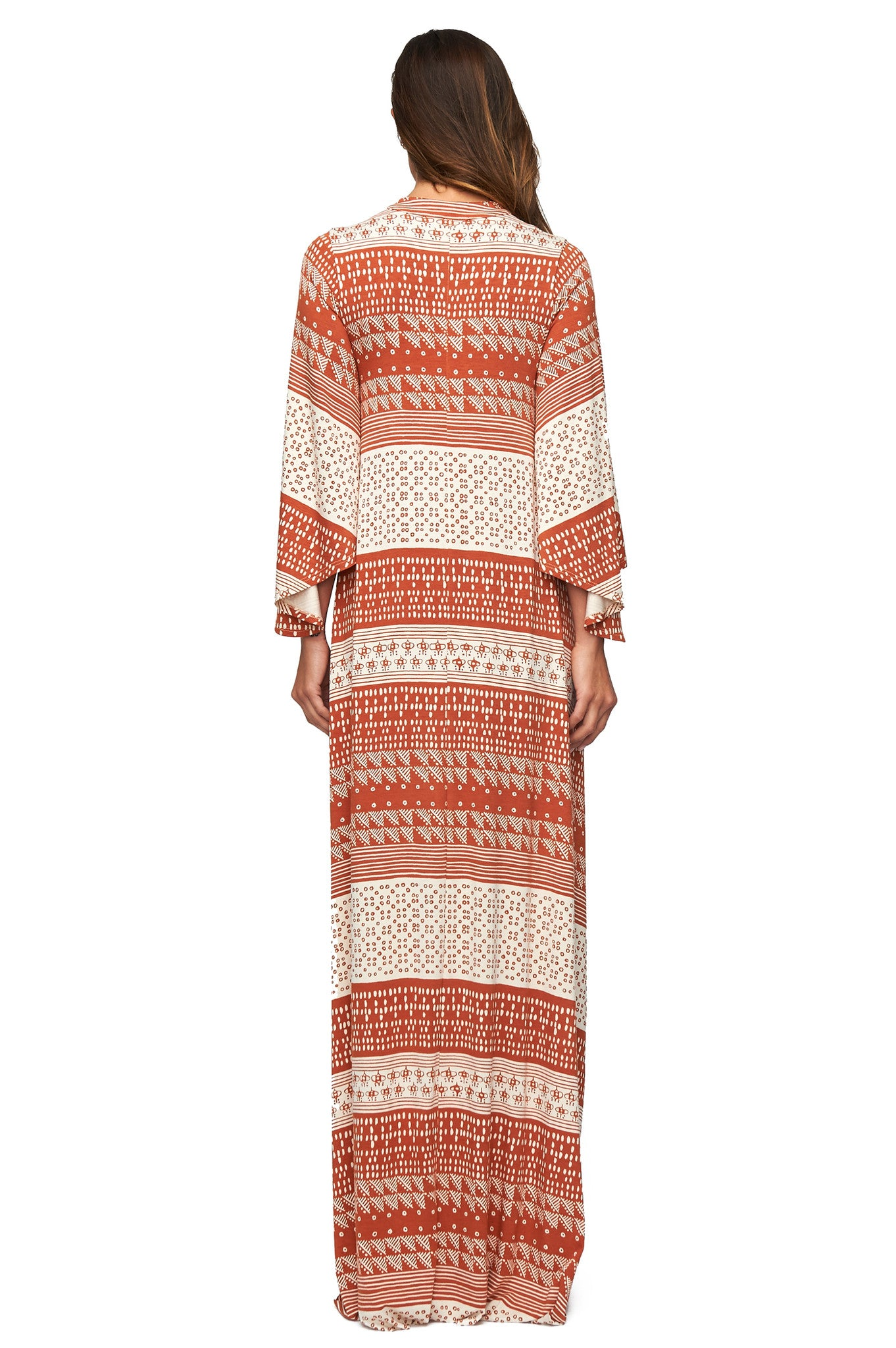 Rosaleen Dress - Copper Block Print