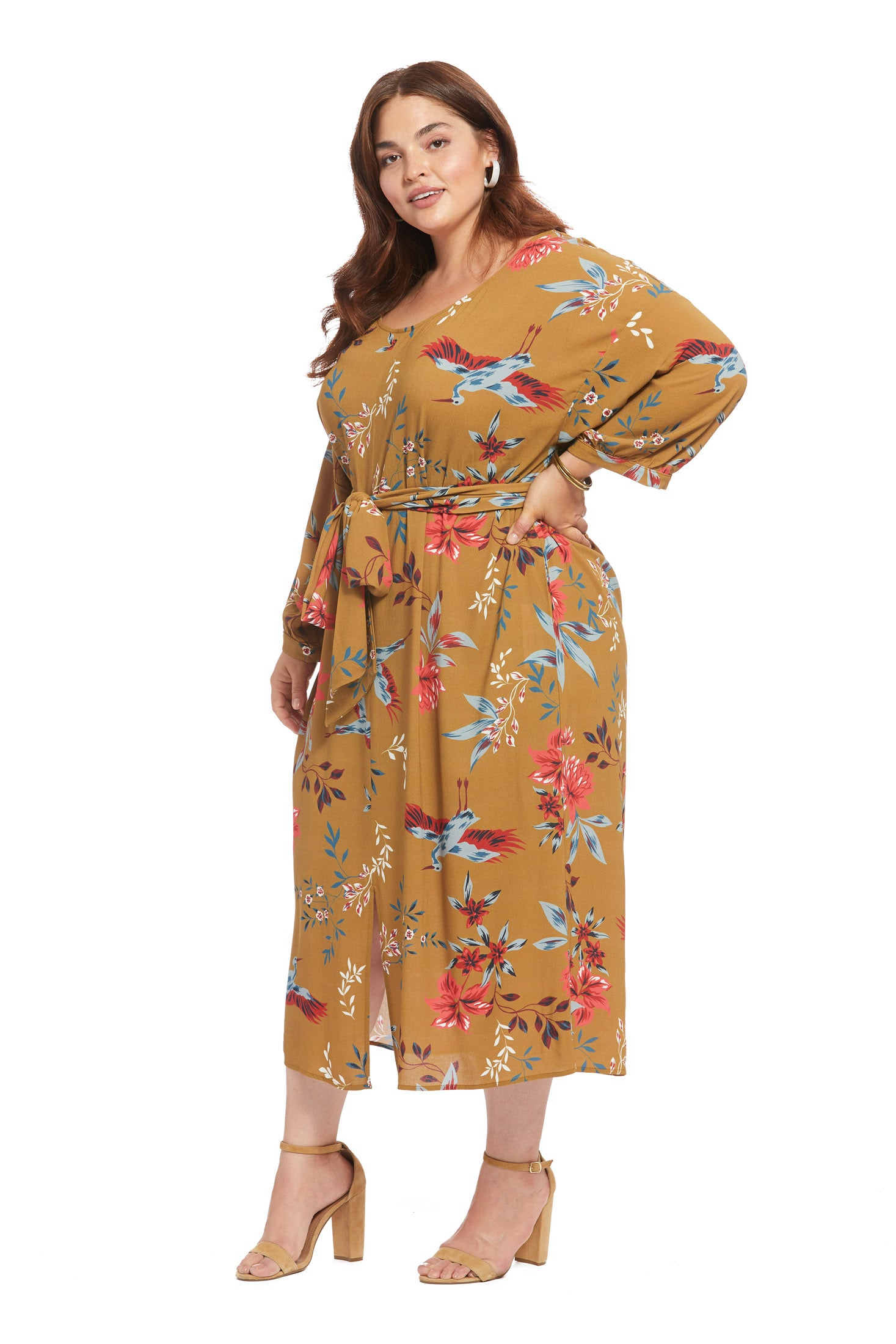 Crepe Reversible Ryan Dress - Avian, Plus Size
