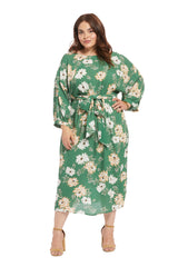 Crepe Rayon Reversible Ryan Dress - Zinnia, Plus Size