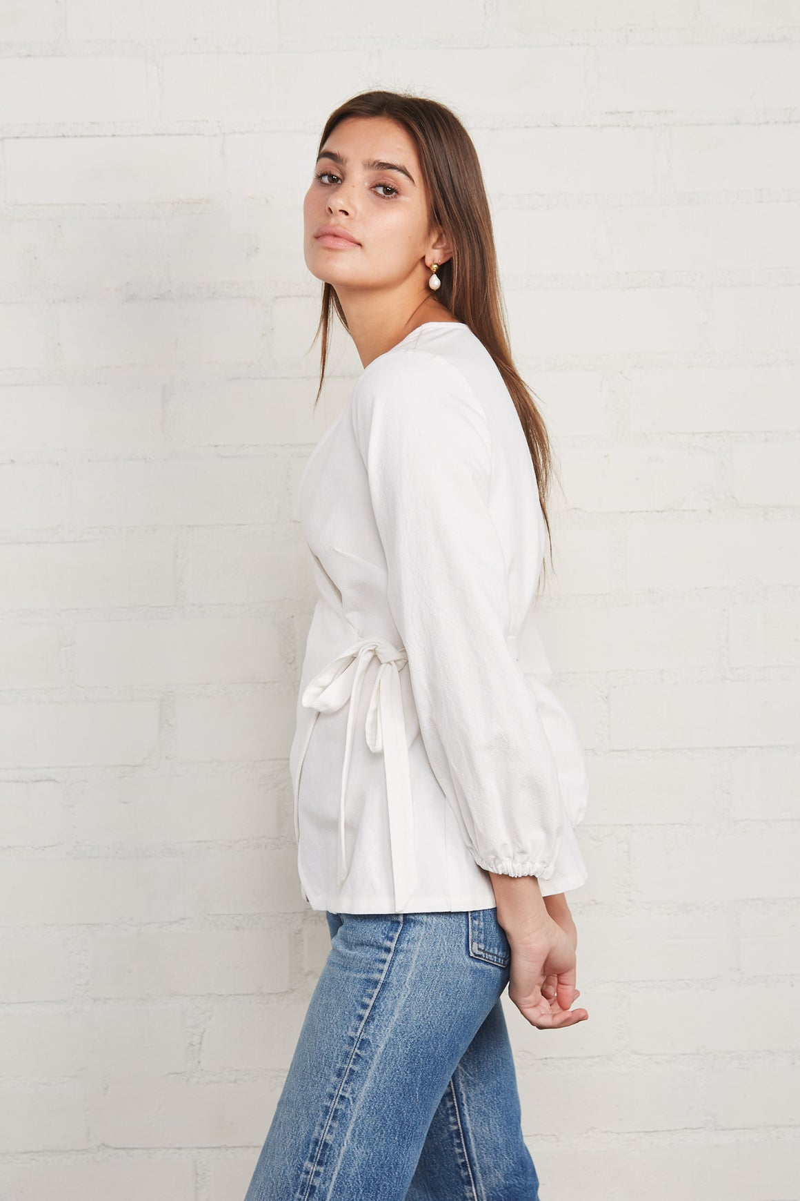 Winter Linen Canvas Otis Wrap Top