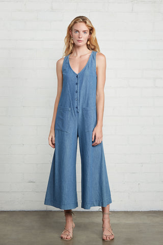 PRE-ORDER - Cody Jumpsuit - Stonewash Chambray