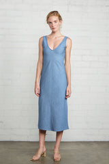 Simona Dress - Stonewash Chambray