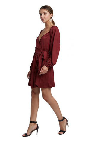 Sera Wrap Dress - Gamay