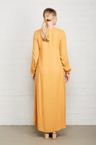 Shadow Stripe Manon Dress - Marigold, Maternity