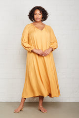 Shadow Stripe Manon Dress - Marigold, Plus Size