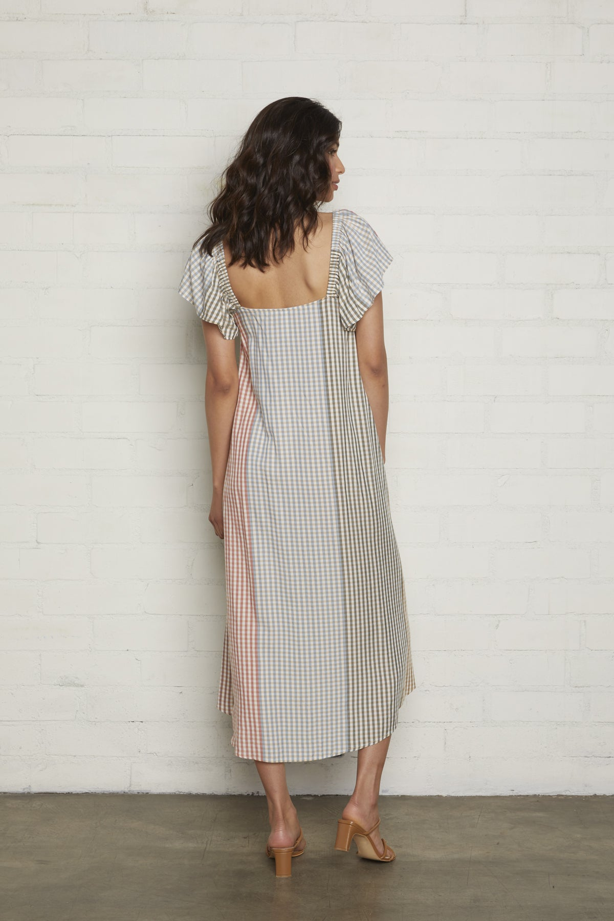 Sibil Dress - Ombre Check Voile