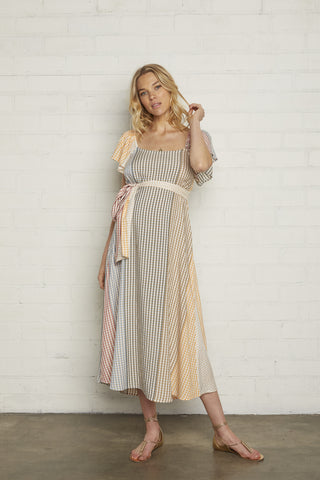 Sibil Dress - Ombre Check Voile, Maternity
