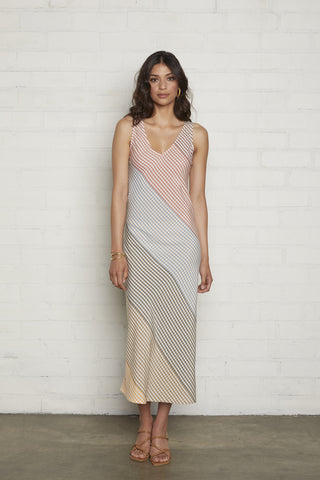 Simona Dress - Ombre Check Voile