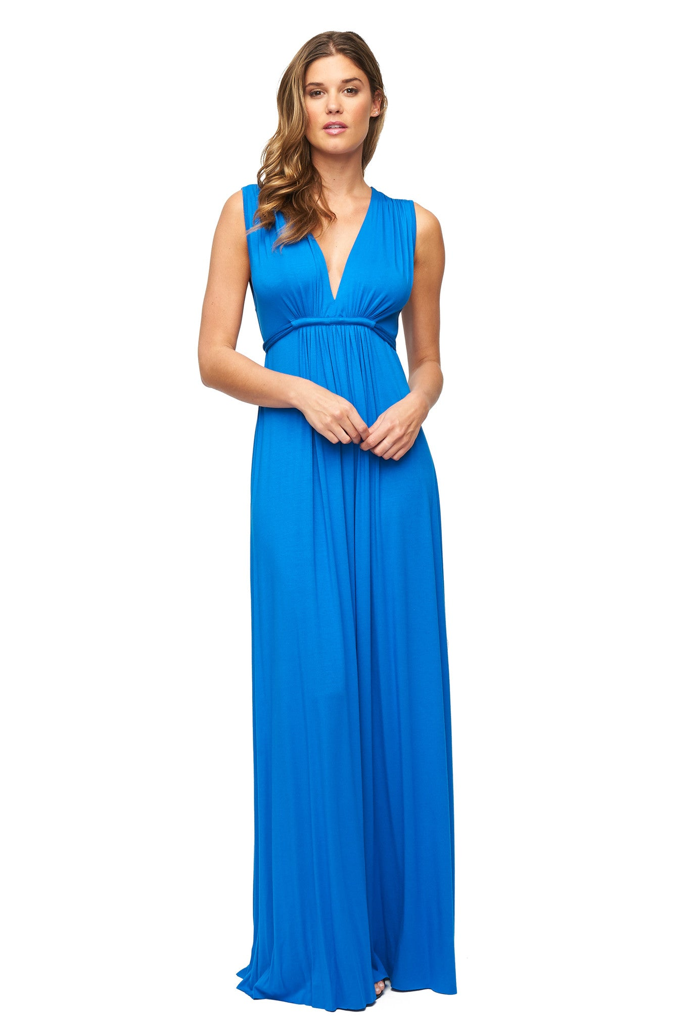 Long Sleeveless Caftan Dress - Delta