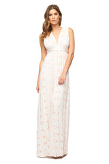 Long Sleeveless Caftan Dress Print - Dusty Medallion