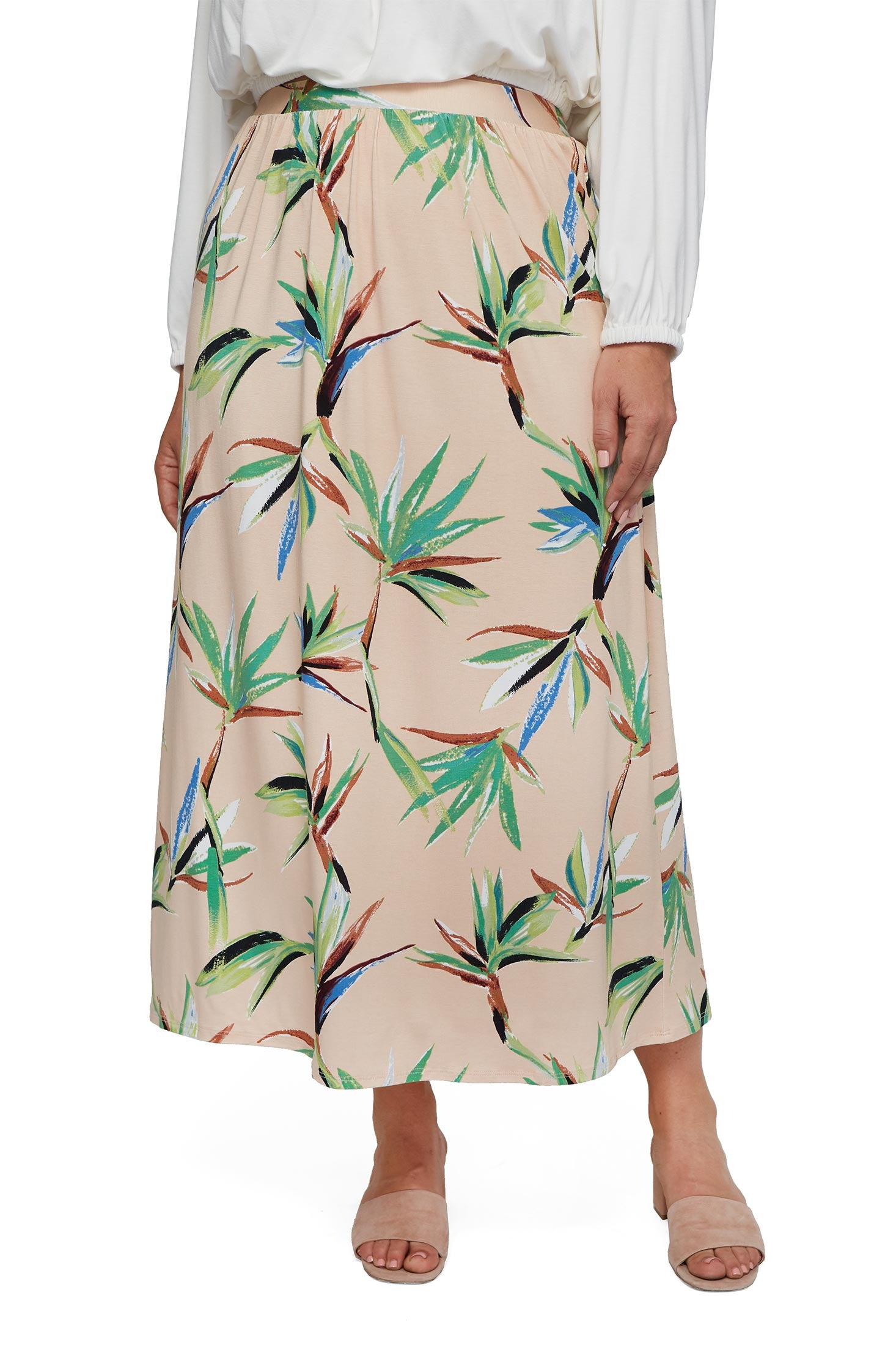 Slim Skirt - Paradise, Plus Size