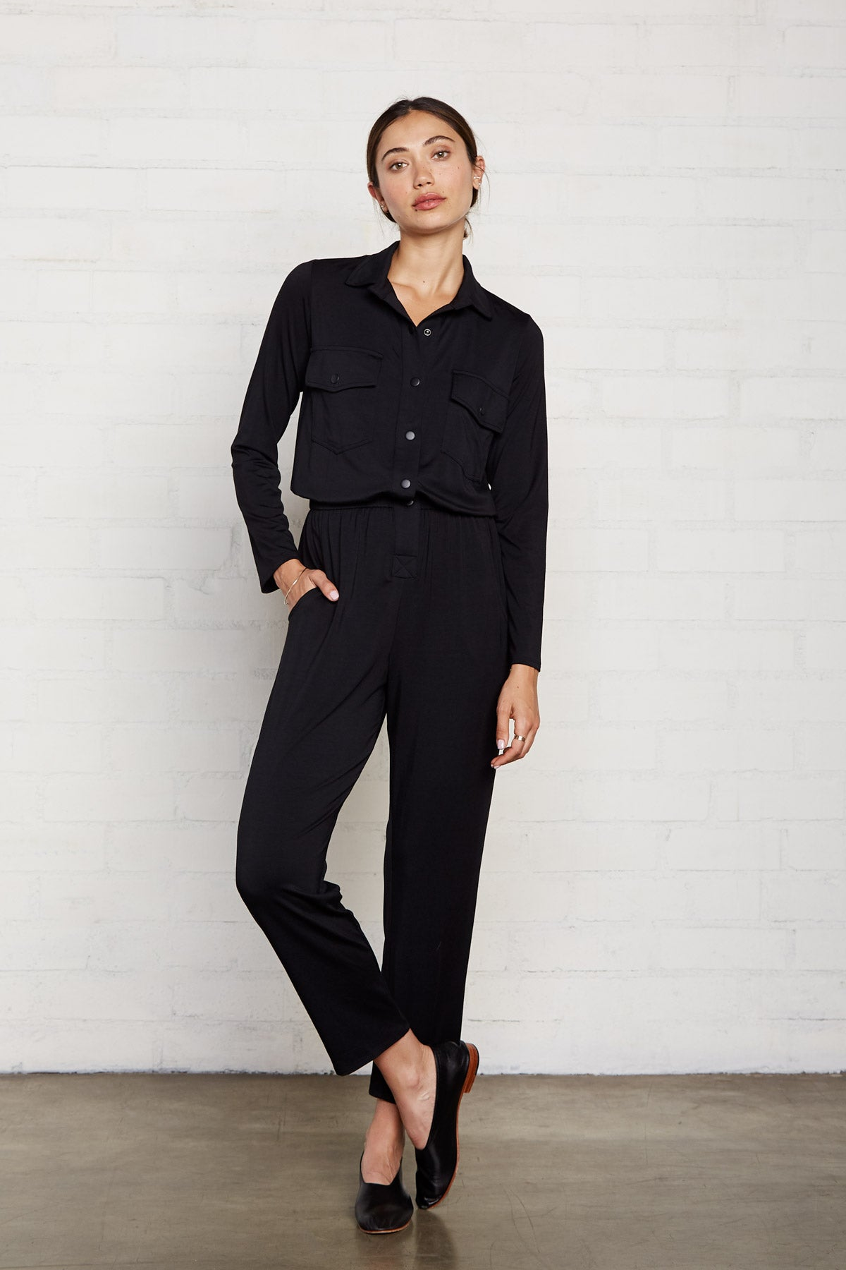 Snap Jumpsuit - Black