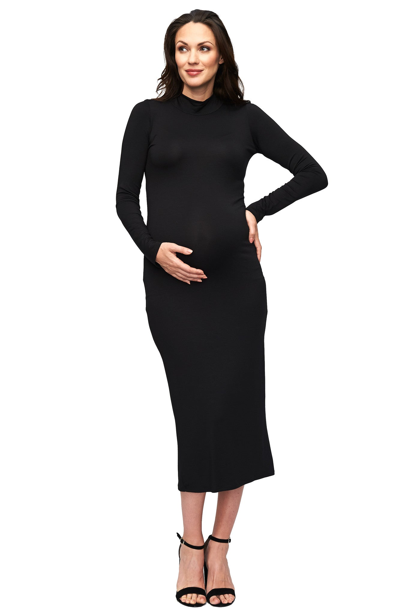 Mid-Length Stella Dress - Black