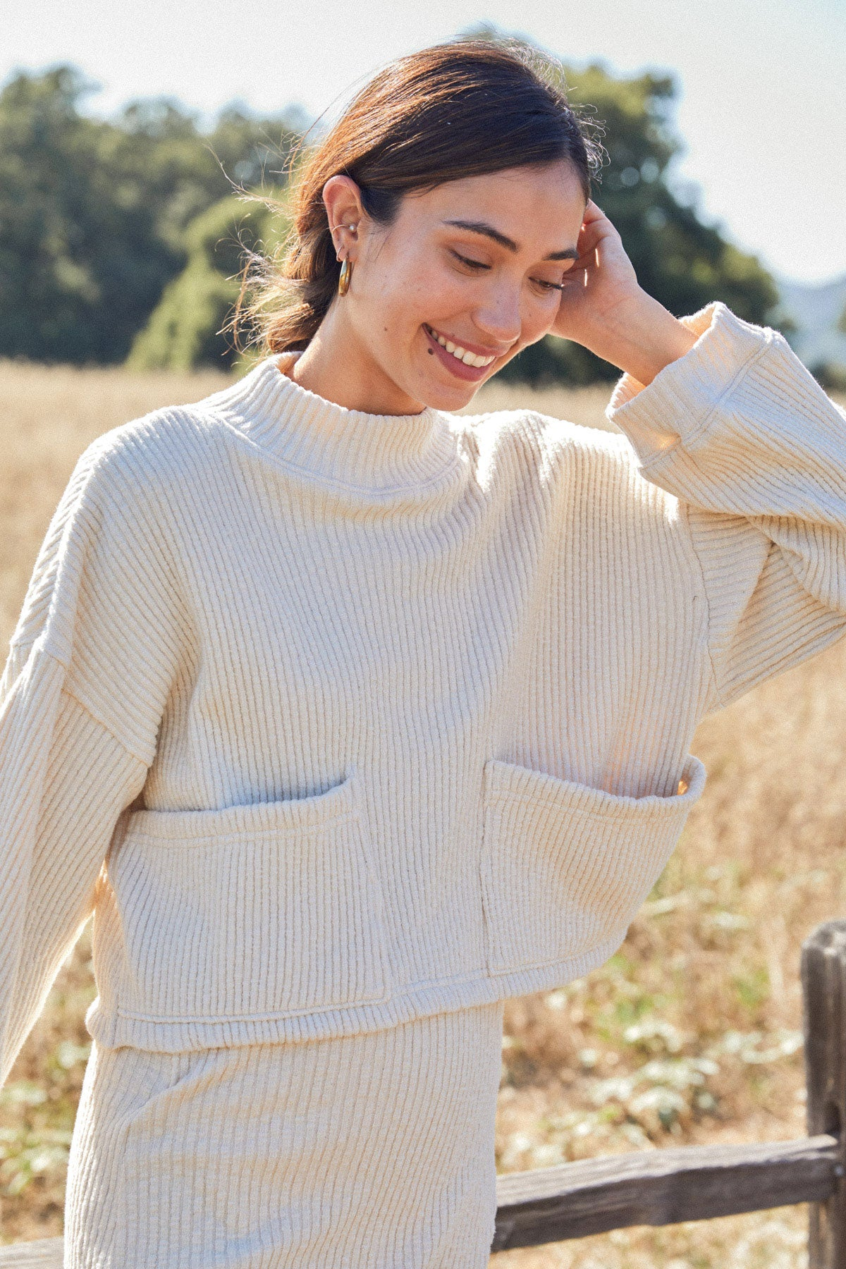 Sweater Rib Jude Top - Oatmeal