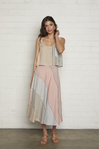 Tamar Skirt - Ombre Check