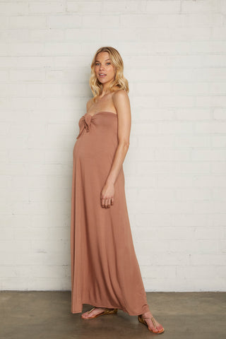 Tamra Dress - Suntan, Maternity