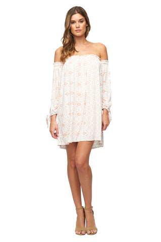 Trice Dress Print - Dusty Medallion
