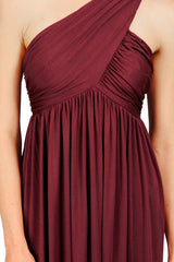 LONG TWIST SHOULDER DRESS - PINOT