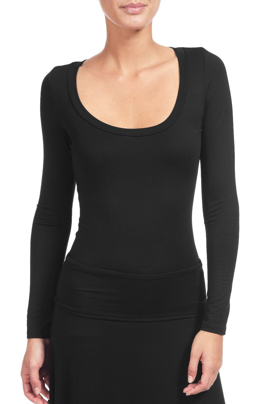 DESI LONG SLEEVE TOP - BLACK
