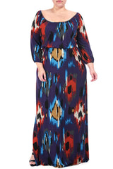 FREYA DRESS WL PRINT - SUMATRA