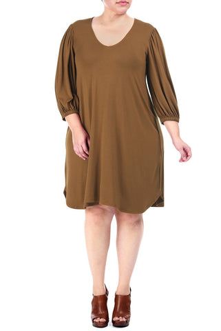 EZRA DRESS WL - CARAMEL