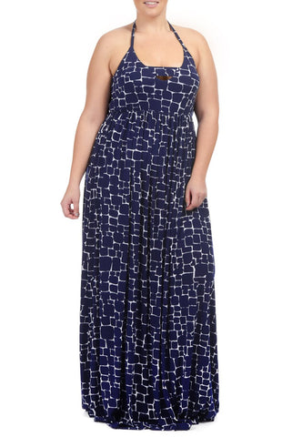 JAINA DRESS WL PRINT - PEBBLE