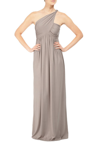LONG TWIST SHOULDER DRESS - STINGRAY