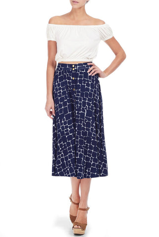 PRIYA SKIRT PRINT - PEBBLE PRINT