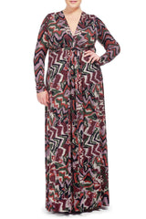 LONG SLEEVE FULL LENGTH CAFTAN WL PRINT - SOLSTICE