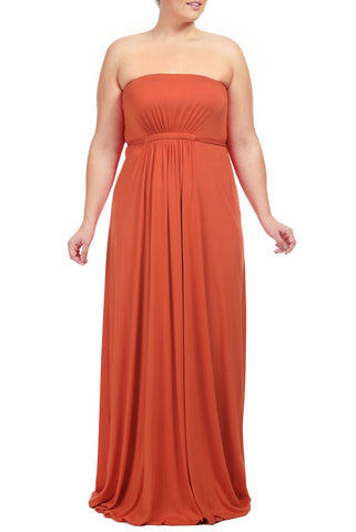 STRAPLESS CAFTAN DRESS WL - CALIENTE