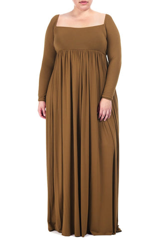 ISA DRESS WL - CARAMEL