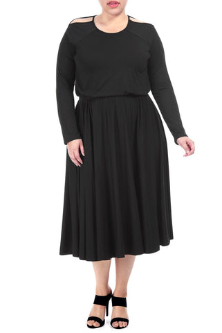 ANNASOPHIA DRESS WL - BLACK