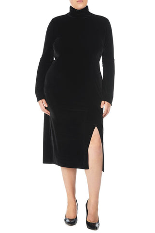 VELVET ALBA DRESS WL - BLACK