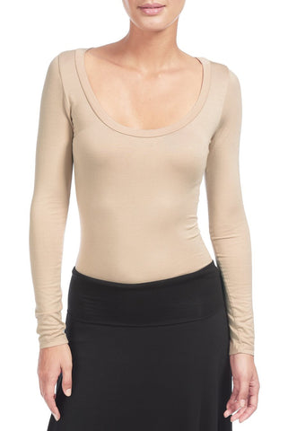 DESI LONG SLEEVE TOP - BAMBOO