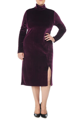 VELVET ALBA DRESS WL - WINE
