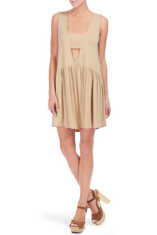 SLEEVELESS NIVEN DRESS - BAMBOO
