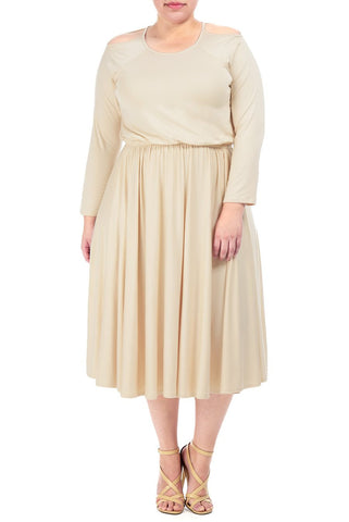 ANNASOPHIA DRESS WL - CREAM