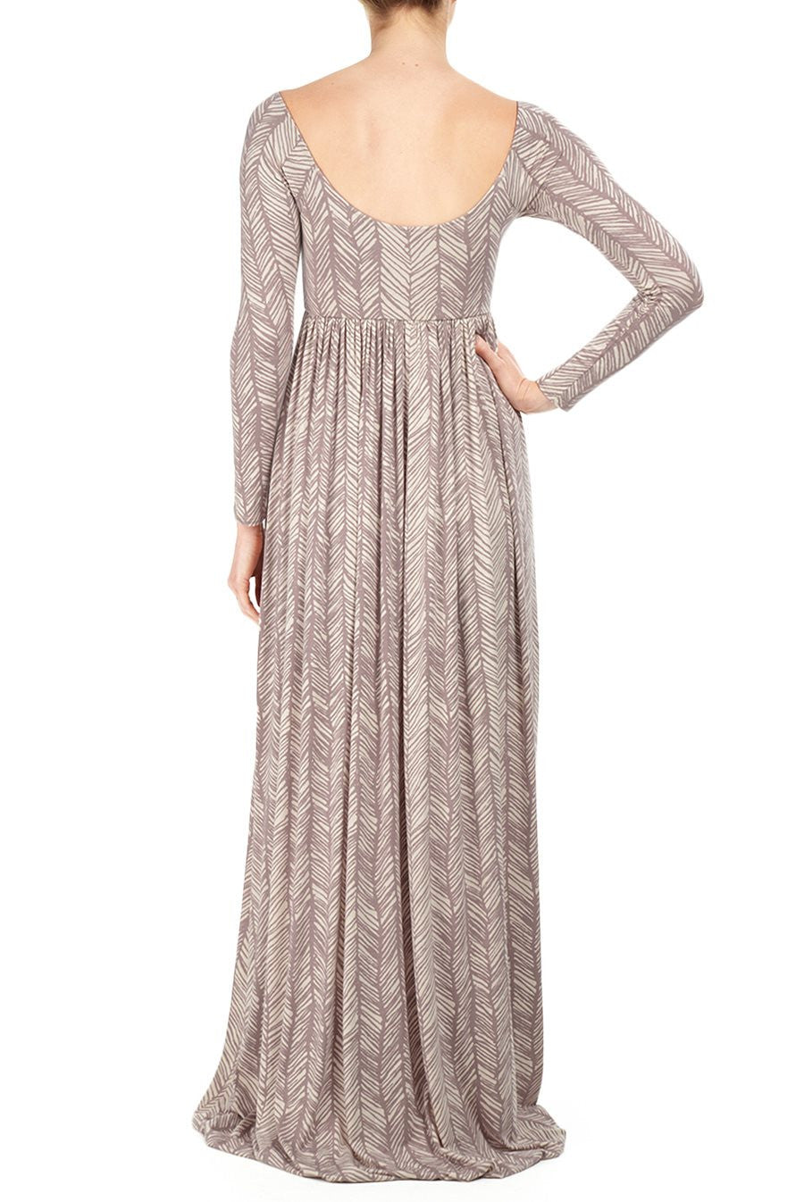 ISA DRESS PRINT - TAUPE LADDER